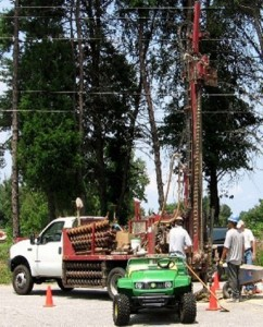 Auger Well Drilling - Groundwater sample