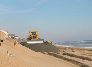 Beach nourishment NC coastline