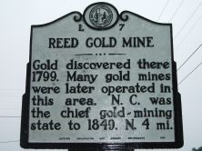 Reed Gold Mine Entry Plaque