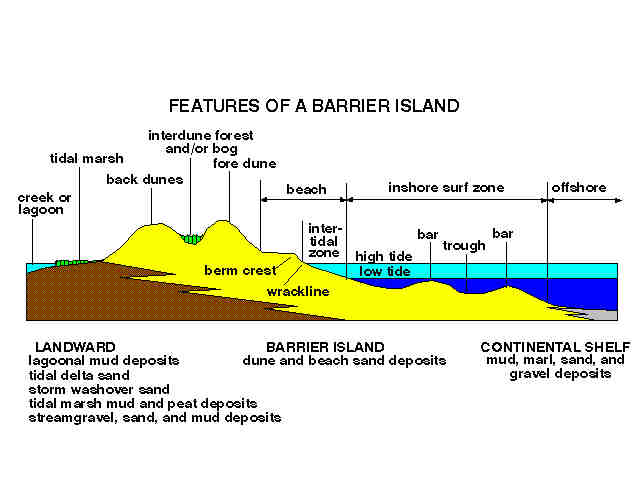 Outer Banks barrier island formation
