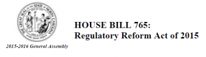 NC Regulatory Reform Act