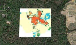 EM31 contour map, buried waste map, conductivity map