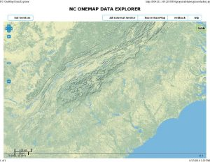 NC topographic map, NC relief map