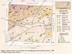 NC radon, guilford county radon